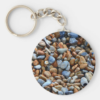 Colorful stone texture keychain