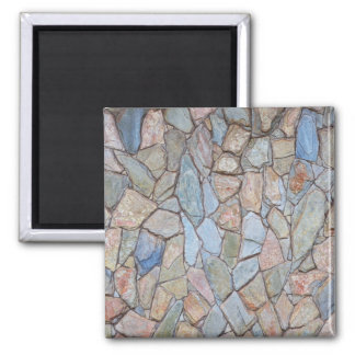 Colorful Stone Wall Texture Magnet