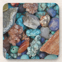 Colorful stones coasters