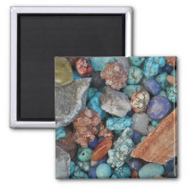 Colorful stones magnet