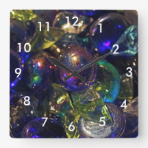 Colorful stones, on a wall clock