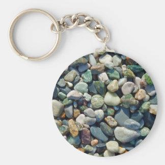 Colorful stones pebbles key chains
