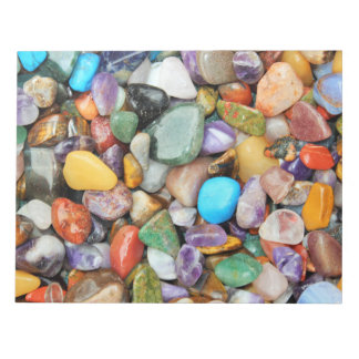 Colorful stones, pebbles, rocks notepad