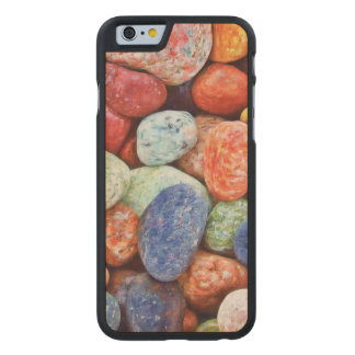 Colorful Stones - River Rocks Painting Carved® Maple iPhone 6 Slim Case