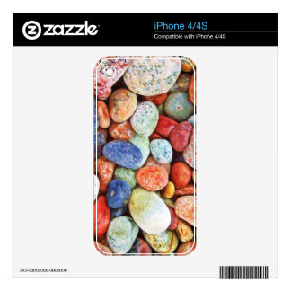 Colorful Stones - River Rocks Painting iPhone 4S Decal