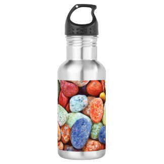 Colorful Stones - River Rocks Painting Stainless Steel Water Bottle