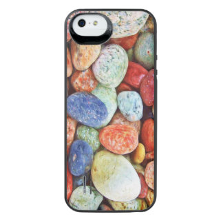 Colorful Stones - River Rocks Painting Uncommon Power Gallery™ iPhone 5 Battery Case