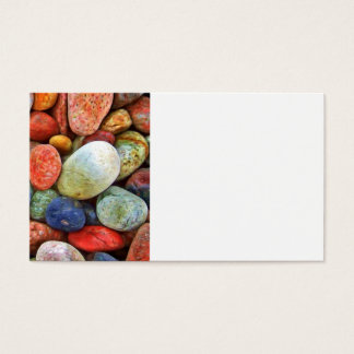 Colorful Stones, Rocks and Pebbles Gifts Business Card