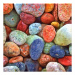 Colorful Stones, Rocks and Pebbles Gifts Custom Announcements