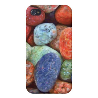 Colorful Stones, Rocks and Pebbles Gifts Case For iPhone 4