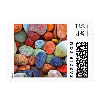 Colorful Stones Rocks and Pebbles Gifts Postage Stamps