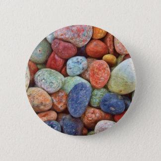 Colorful stones, rocks button