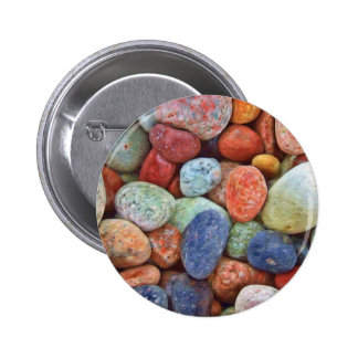 Colorful stones, rocks button
