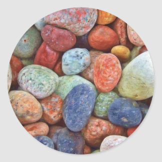 Colorful stones, rocks classic round sticker