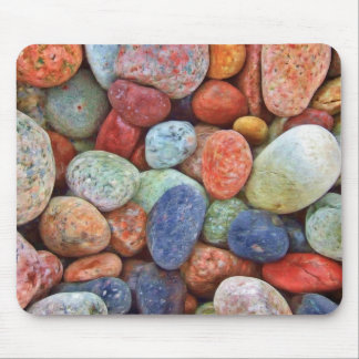 Colorful stones, rocks mouse pad
