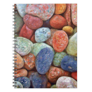 Colorful stones, rocks notebook