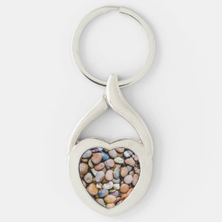 Colorful Stones Rocks Pebbles Keychain