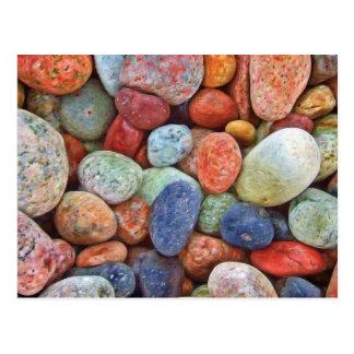 Colorful stones, rocks postcard