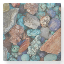 Colorful stones stone coaster
