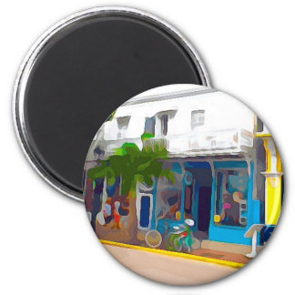 Colorful Stores in Key West Magnet
