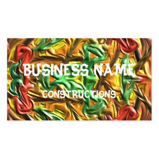 Colorful strange pattern business card