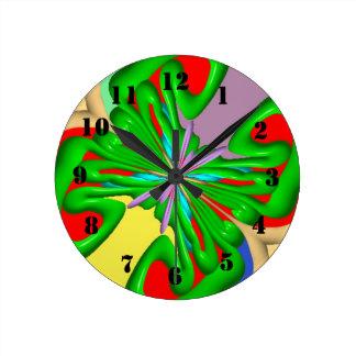 Colorful strange pattern round clock