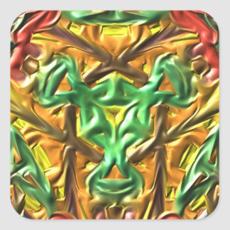 Colorful strange pattern square sticker
