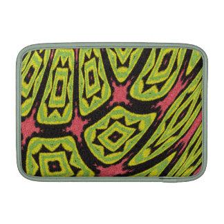 Colorful strange shapes pattern MacBook air sleeve
