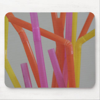 Colorful Straw party Mouse Pad