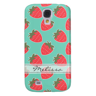 Colorful Strawberry Fruit Seamless Pattern Samsung Galaxy S4 Case