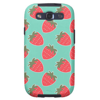 Colorful Strawberry Fruit Seamless Pattern Galaxy SIII Case