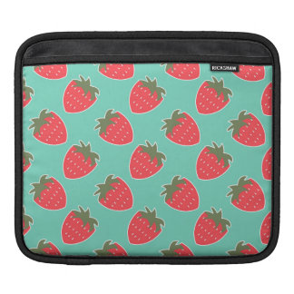 Colorful Strawberry Fruit Seamless Pattern Sleeves For iPads