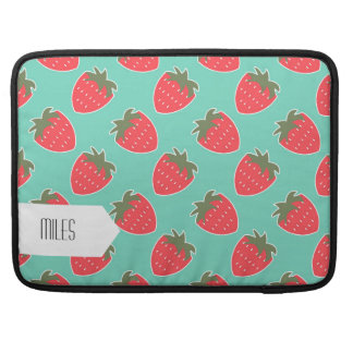 Colorful Strawberry Fruit Seamless Pattern MacBook Pro Sleeve