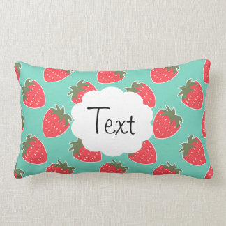 Colorful Strawberry Fruit Seamless Pattern Pillow