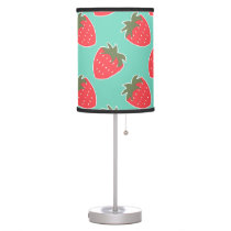 Colorful Strawberry Fruit Seamless Pattern Table Lamp
