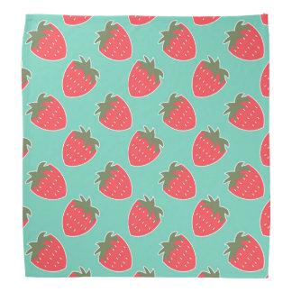 Colorful Strawberry Fruit Seamless Pattern Bandana