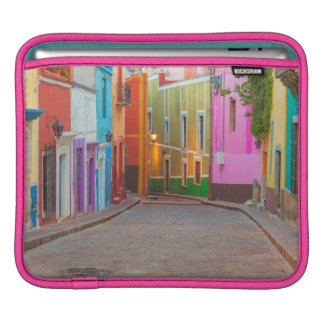 Colorful street scene iPad sleeves