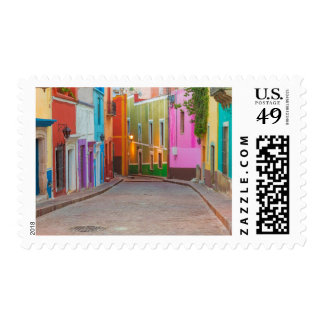 Colorful street scene postage