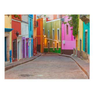 Colorful street scene post card