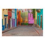 Colorful street scene poster