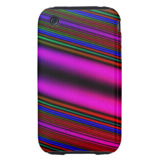 colorful stripe cas iPhone 3 tough covers