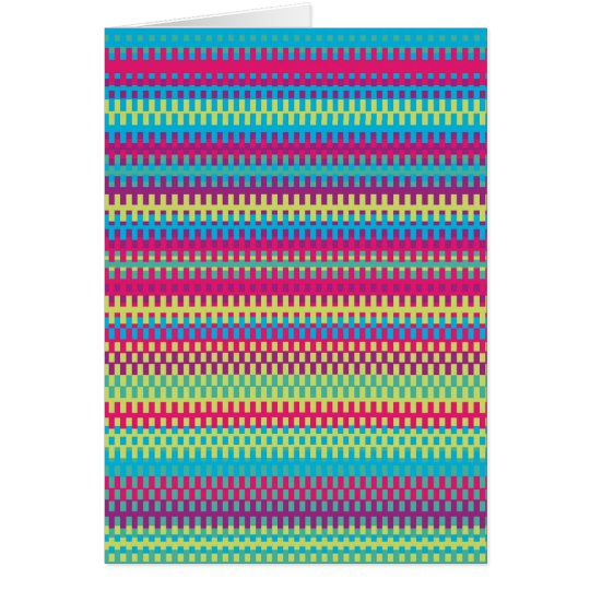 Colorful Stripe Pattern Card