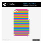 Colorful Stripe Pattern Decal For iPod Touch 4G