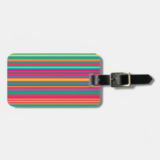 Colorful Stripe Pattern Luggage Tag