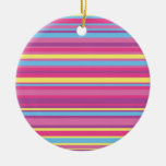Colorful Stripe Pattern Ornaments