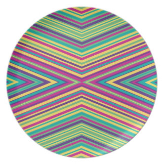 Colorful Stripe Pattern Plates