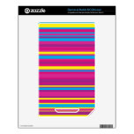 Colorful Stripe Pattern Skin For The NOOK Color