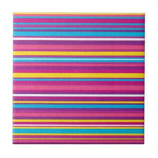 Colorful Stripe Pattern Tile