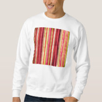 Colorful Stripe Pattern Yellow Green Pink Red Sweatshirt