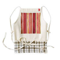 Colorful Stripe Pattern Yellow Green Pink Red Zazzle HEART Apron